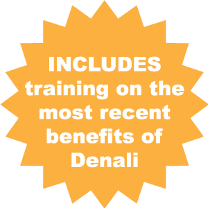 Includes the most recent training benefits of Denali